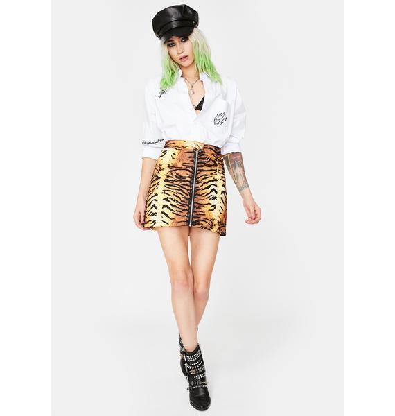 Tripp NYC Natural Tiger Mini Skirt
