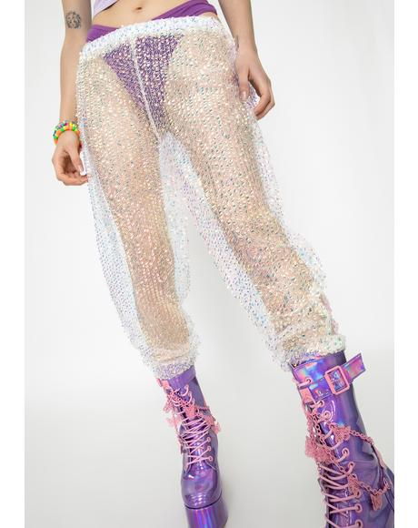 Keeva Sheer Sequin Trousers