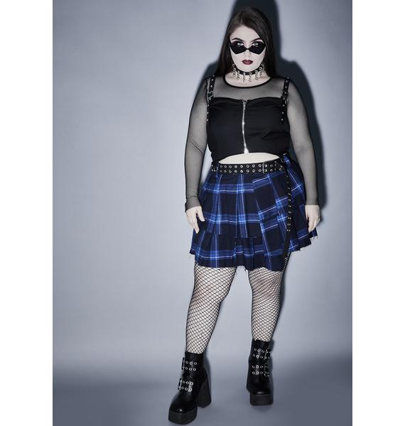 Widow Wicked Killer Fright Night Crop Top