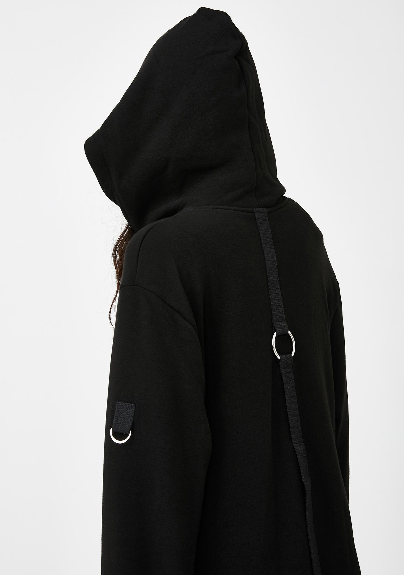 Punk Rave Asymmetric Zip Hoodie