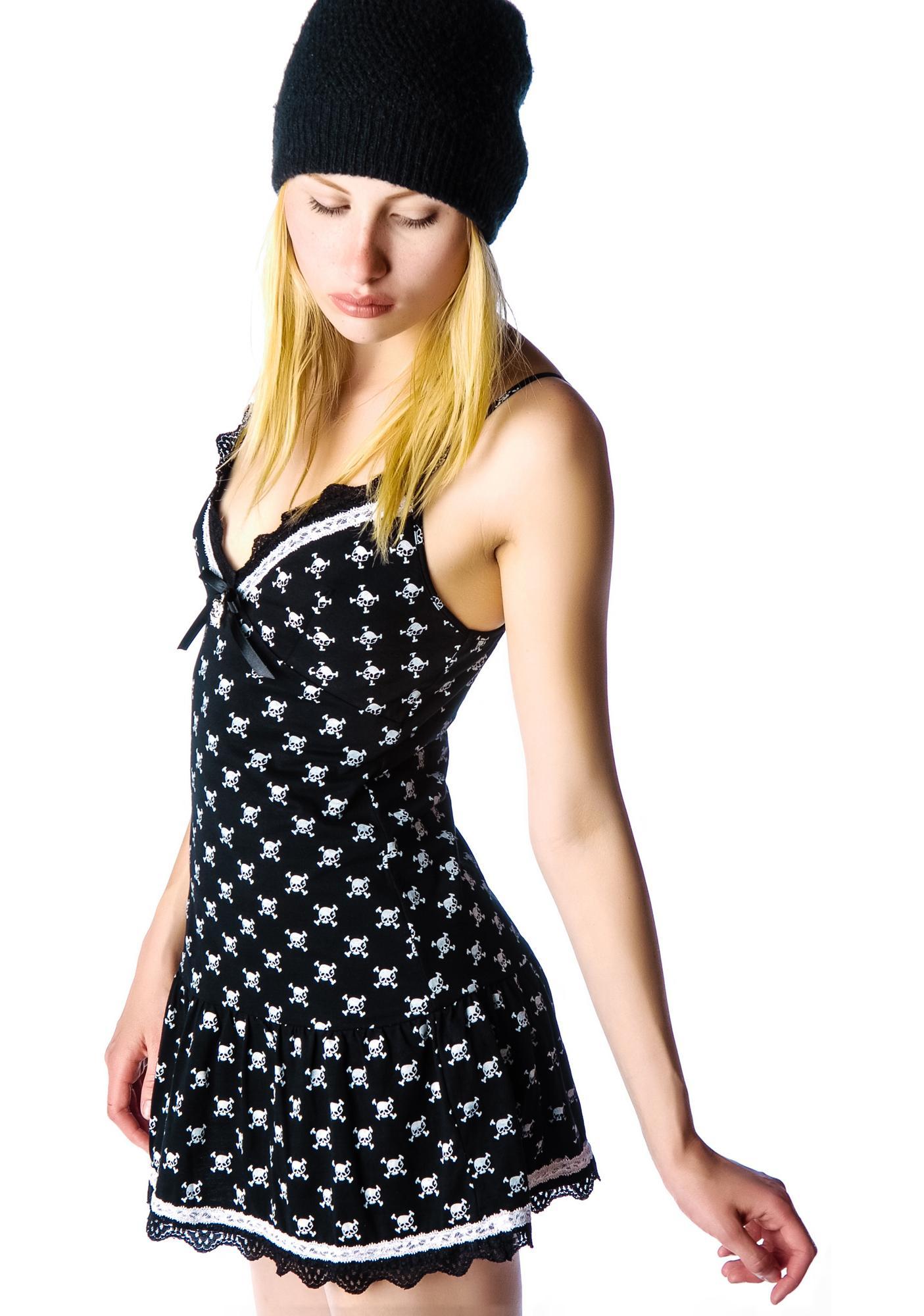 Bone Digger Lace Trim Sun Dress