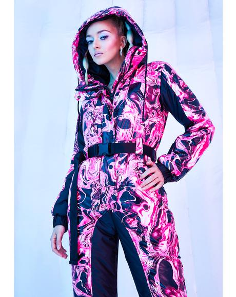 Lady Acid Dimension Puffer Snowsuit