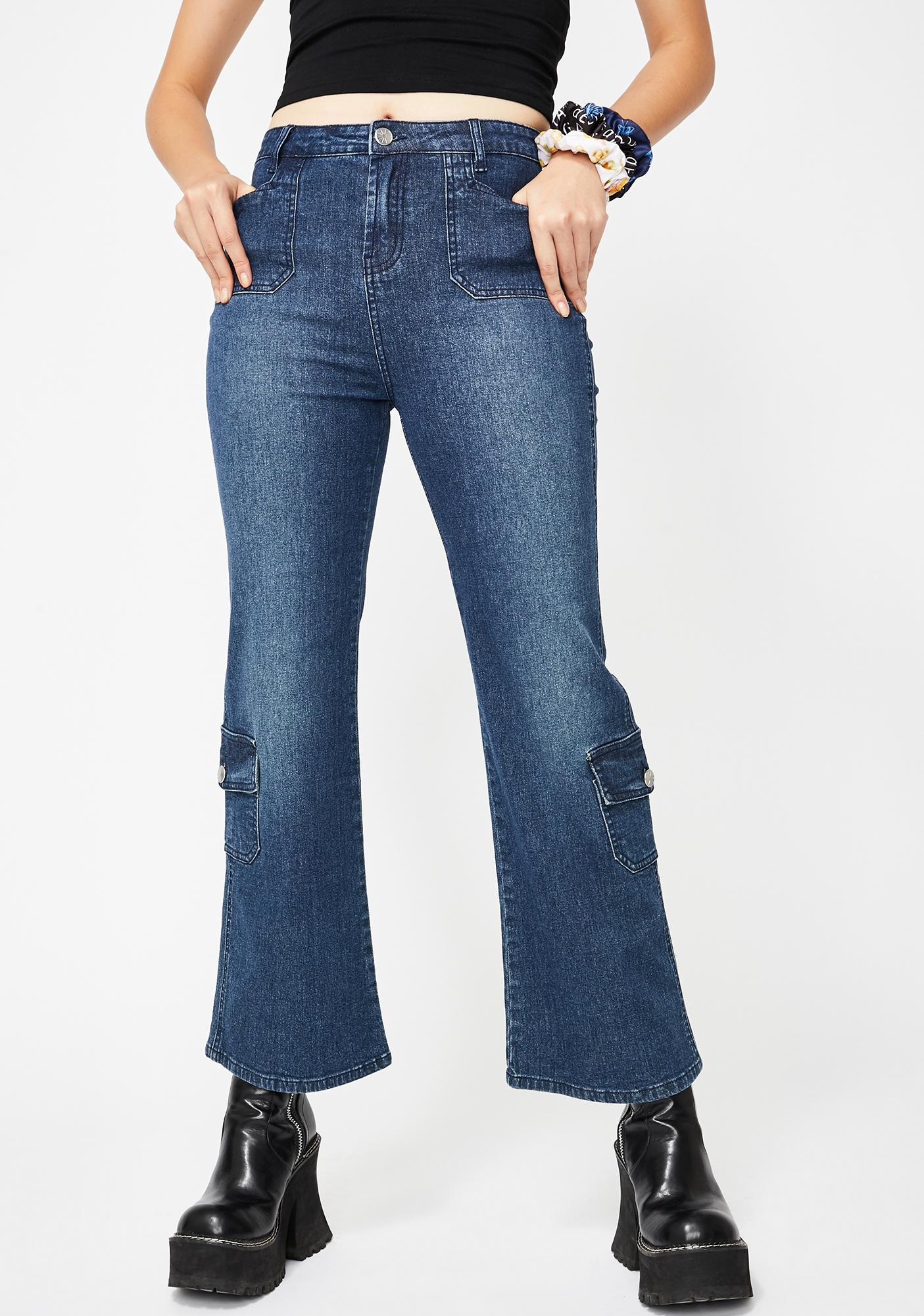 dELiA*s by Dolls Kill A Sure Thing Crop Jeans