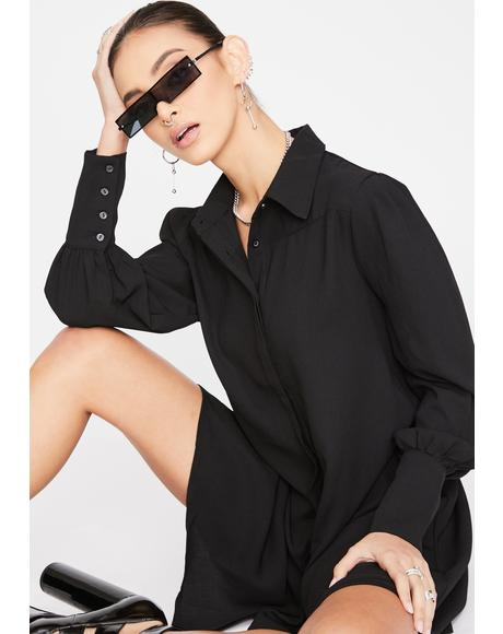 Long Sleeve Button Up Shirt Dress