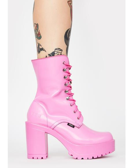 Pink Lush Ankle Boots