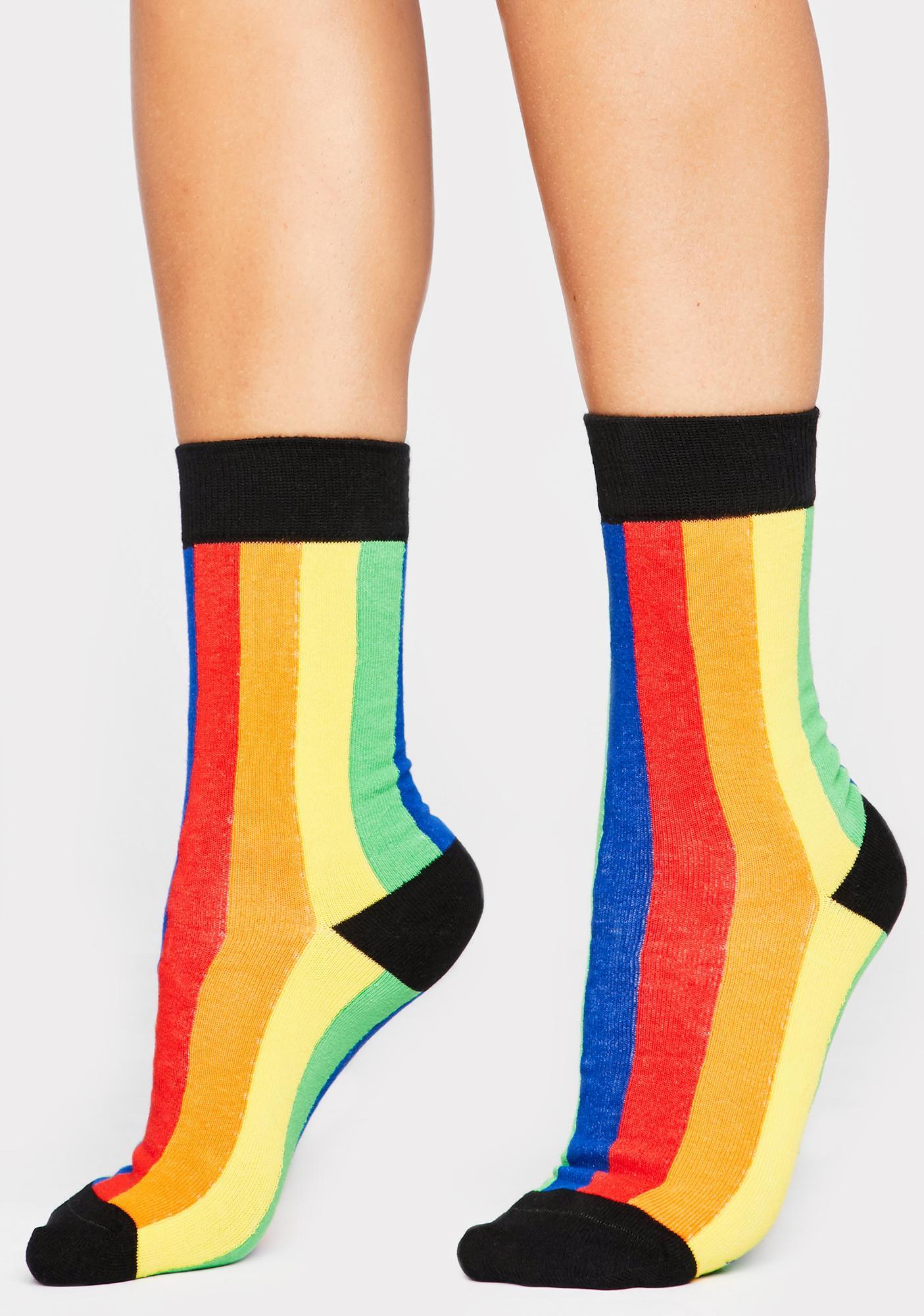 Technicolor Television Crew Socks