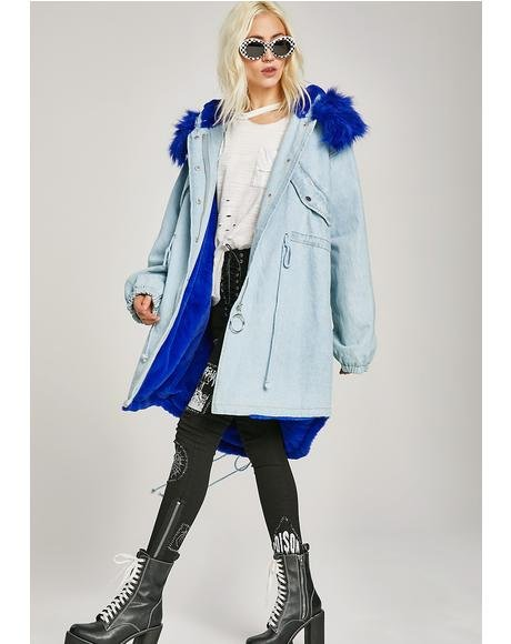 Sweetie Bird Denim Parka