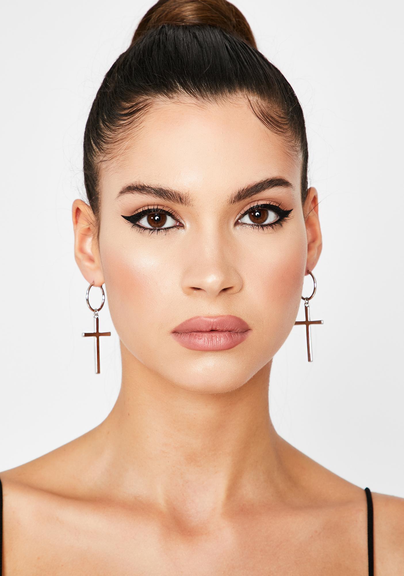 Posh Prayerz Cross Earrings