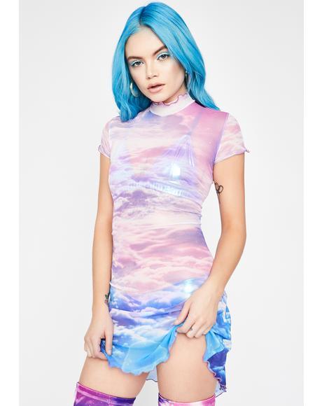 Heaven's Calling Mesh Dress