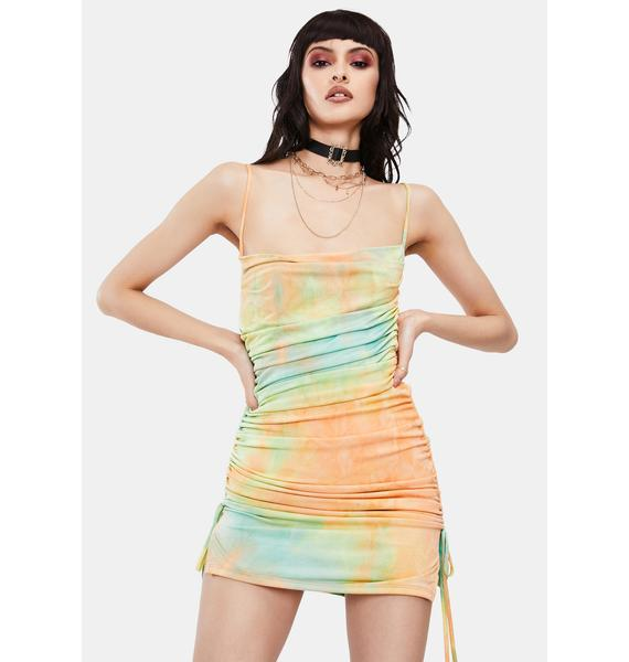 I Stay Winning Tie Dye Mini Dress