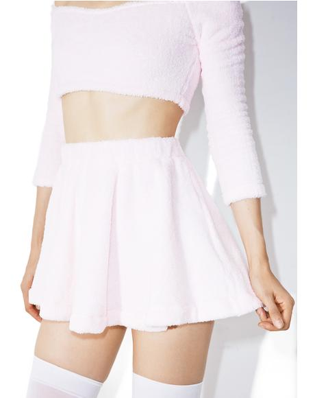 Candy Fluff High-Waisted Skirt
