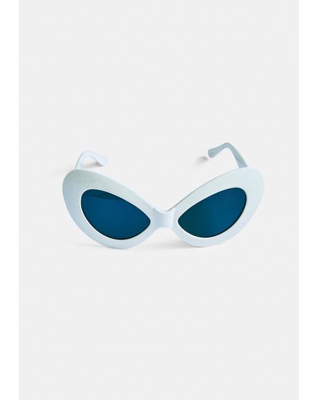 Jetz Bone Cat Eye Sunglasses