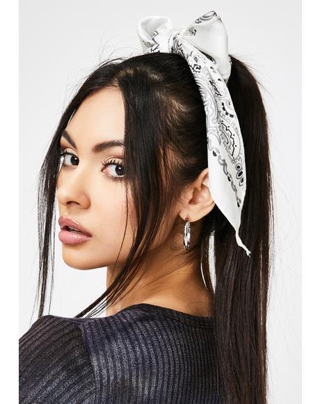 Bandit Baby Bandana Hair Tie