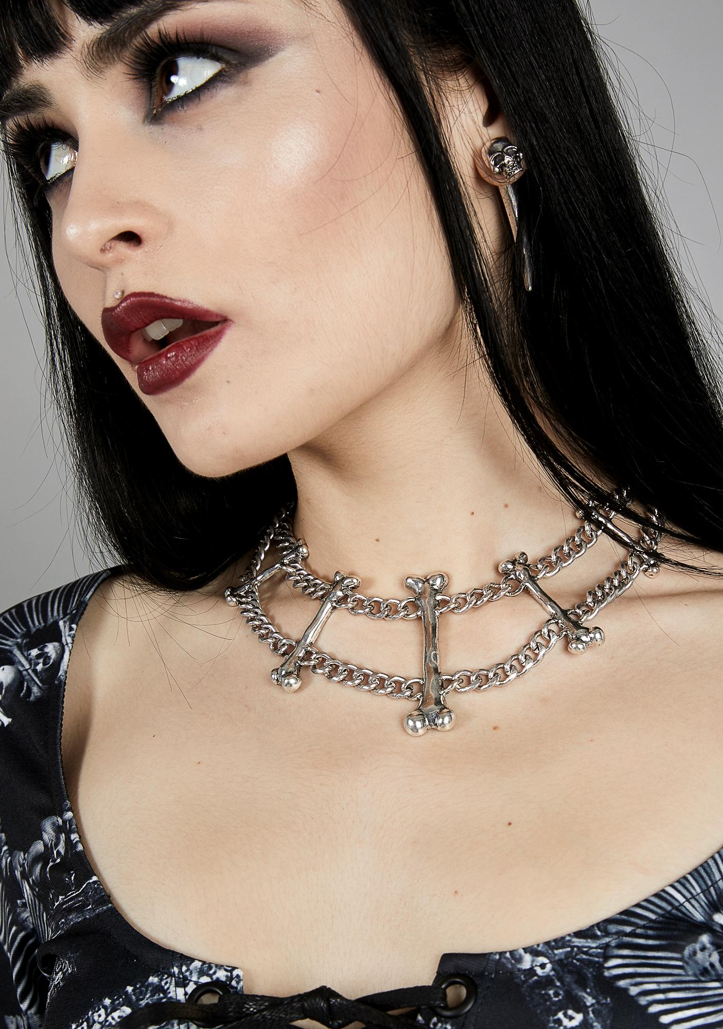 Burial Crypt Bones Necklace