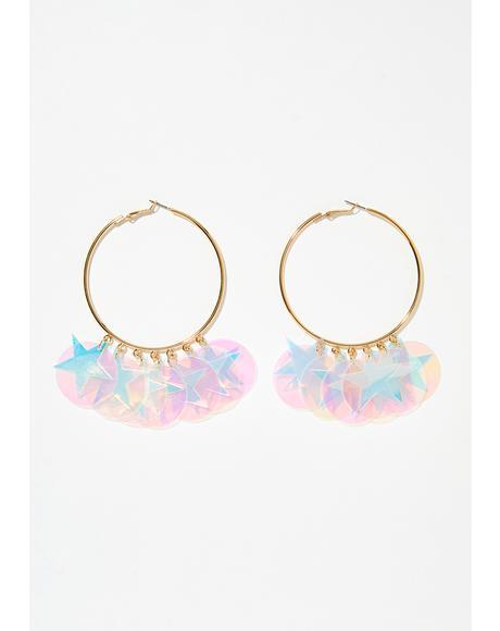 Starchild Hoop Earrings