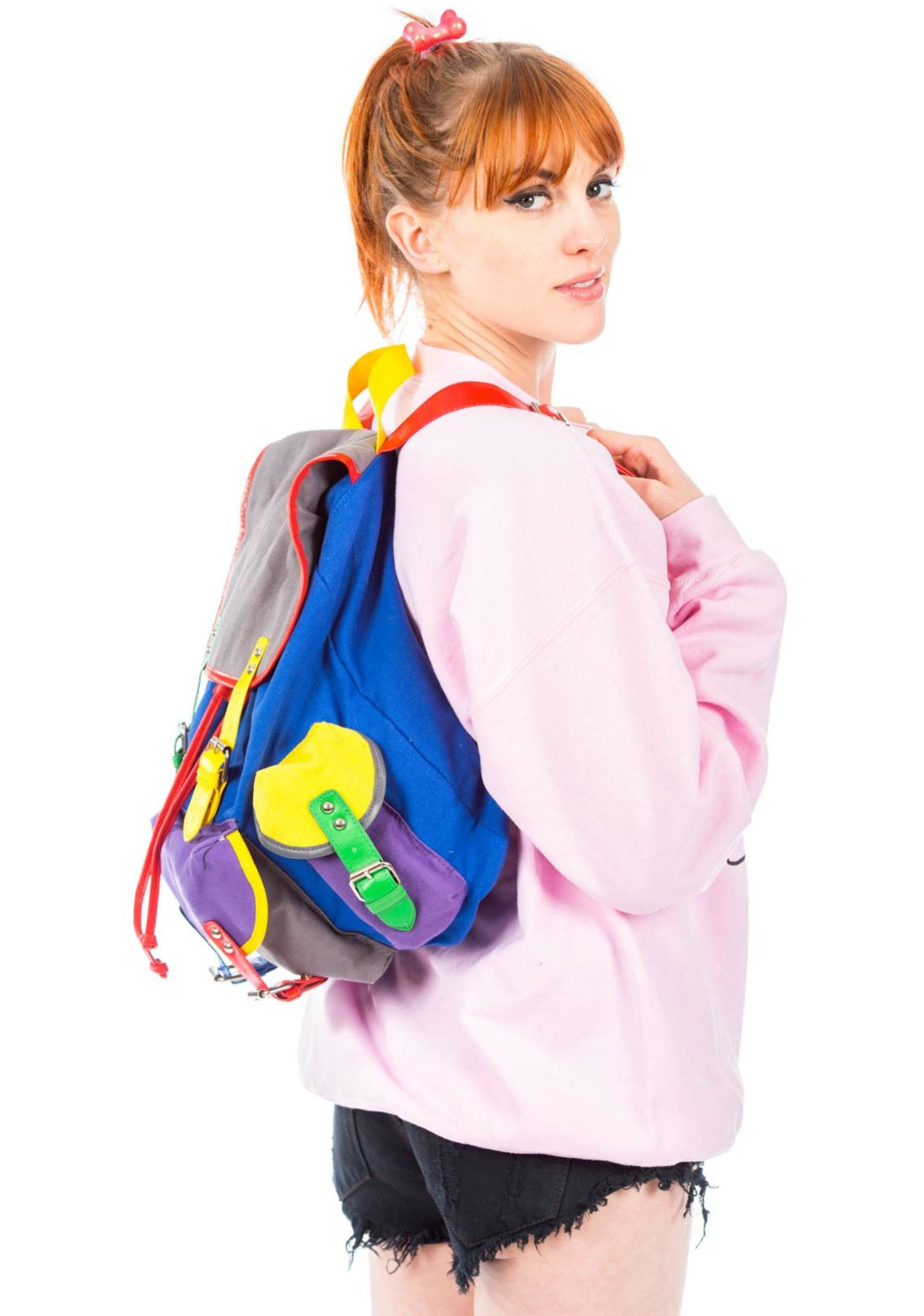 Lazy Oaf Color Block Ruck Sack Bag