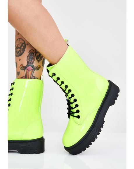 Atomic Kick Combat Boots
