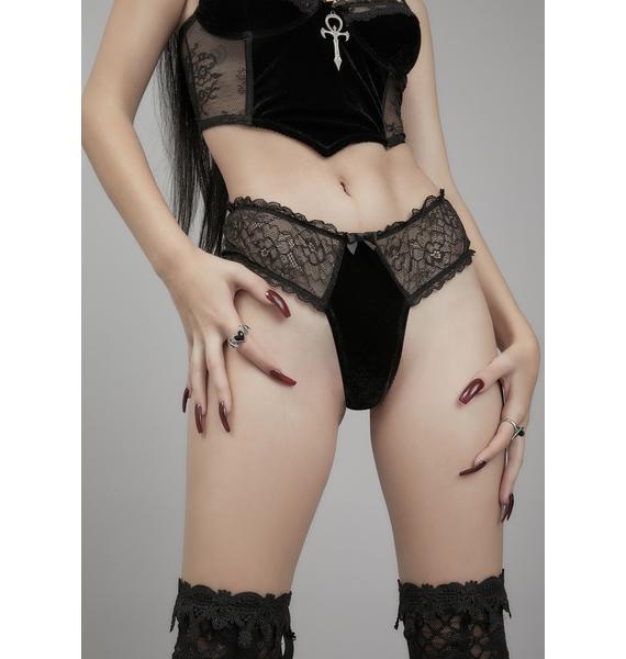 Widow Blood Oath Velvet Thong