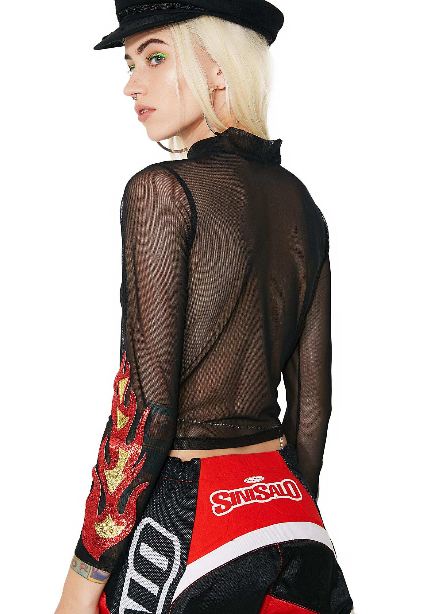 Firestarter Sheer Top