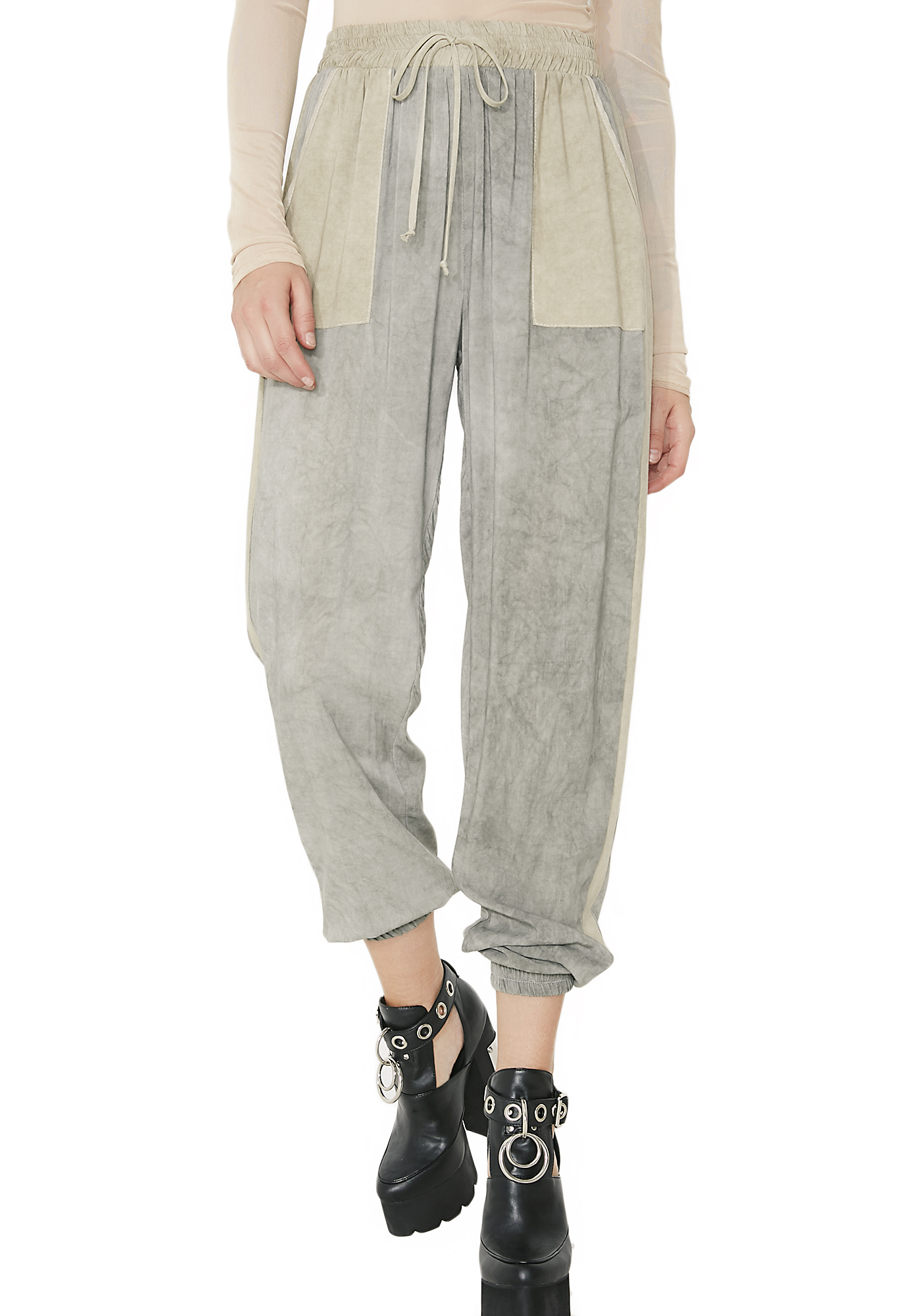 Down N� Out Two Tone Pants
