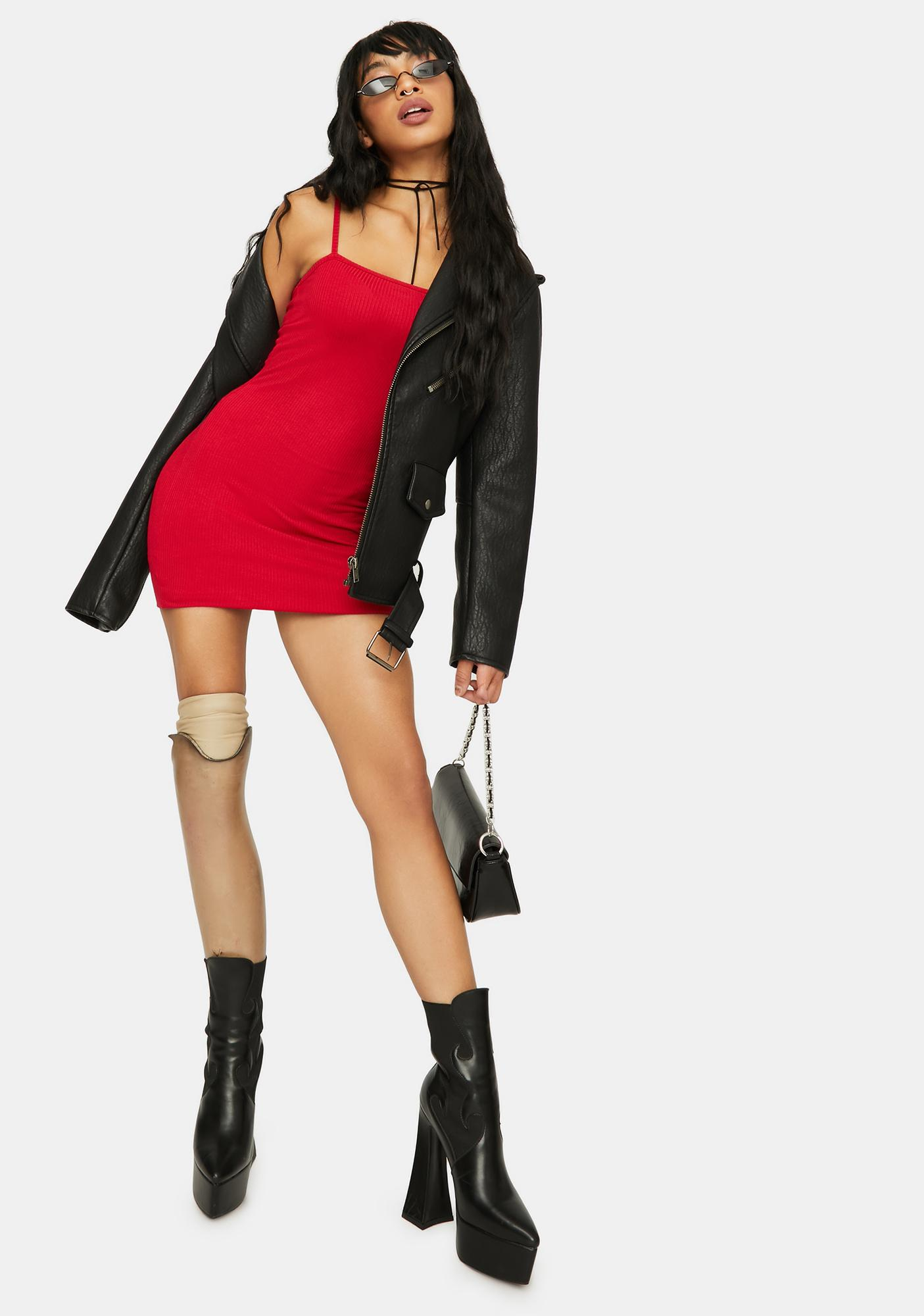 Scarlet Just Makes Sense Ribbed Mini Dress