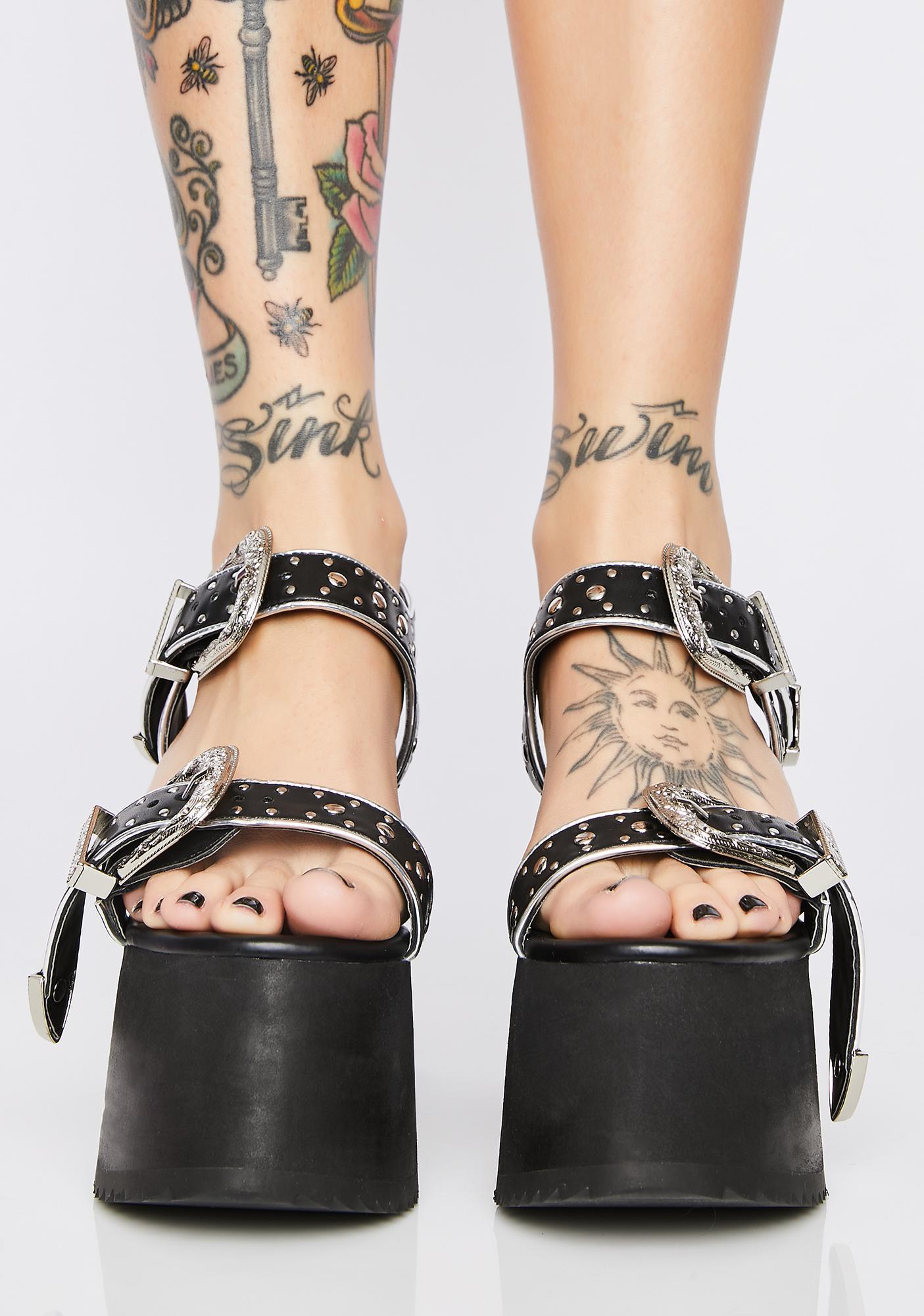 Club Exx Lawbreaker Platform Sandals