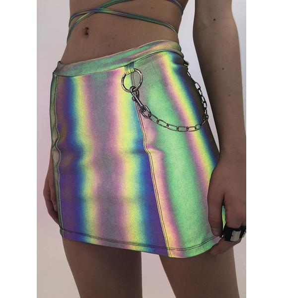 Ivy Berlin Flashed Reflective Skirt
