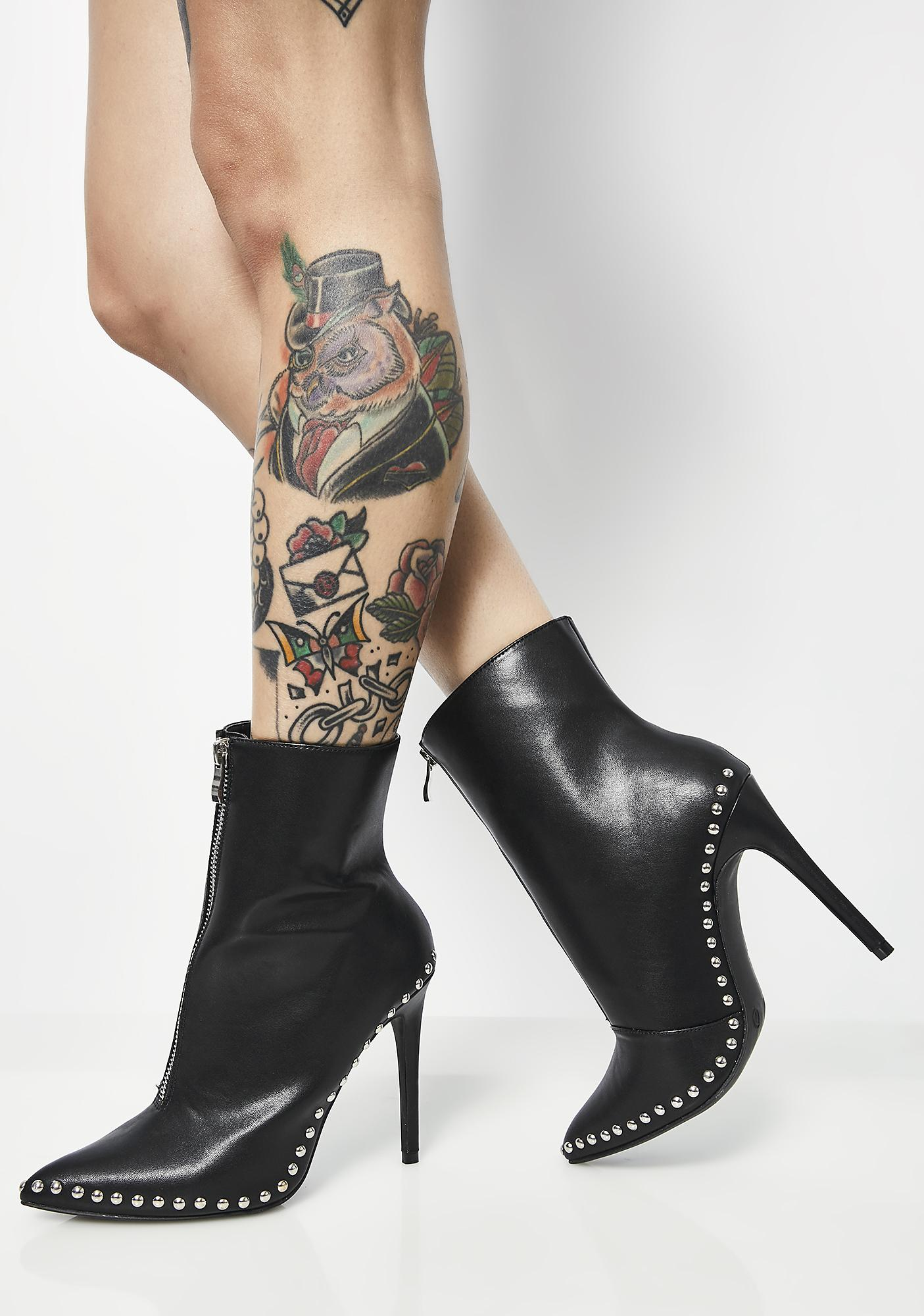 Into The Abyss Studded Booties