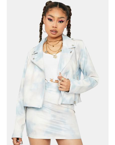 As Good As It Gets Tie Dye Moto Jacket