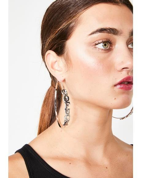 Go Fuc Yerself Hoop Earrings