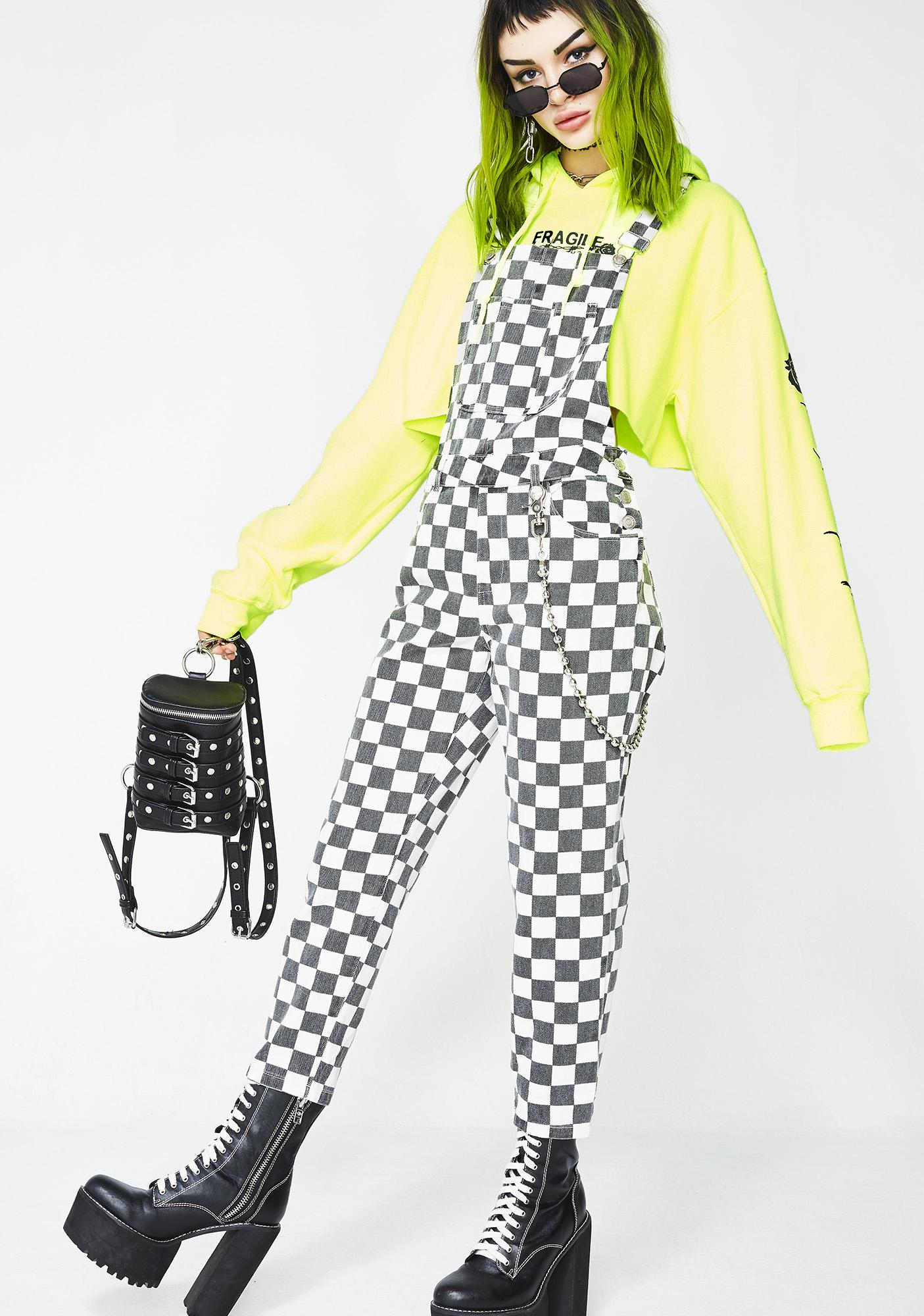 Like A Racecar Checkered Overalls by Signature 8