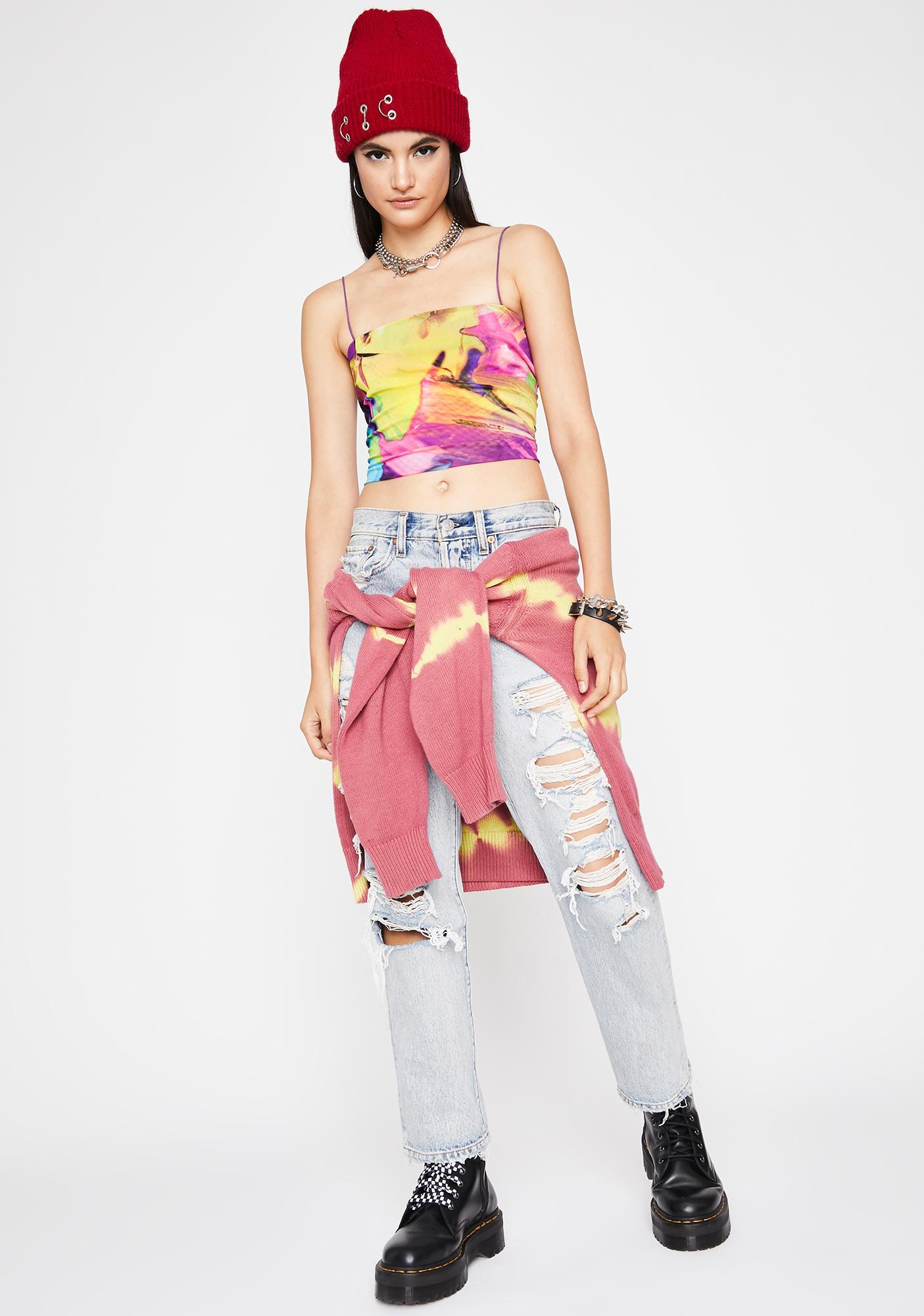 Candy Stay Trippy Crop Top