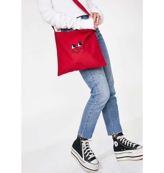 Lazy Oaf Little Red Face Bag