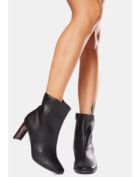 Dark Plus Ultra Acrylic Heel Ankle Boots