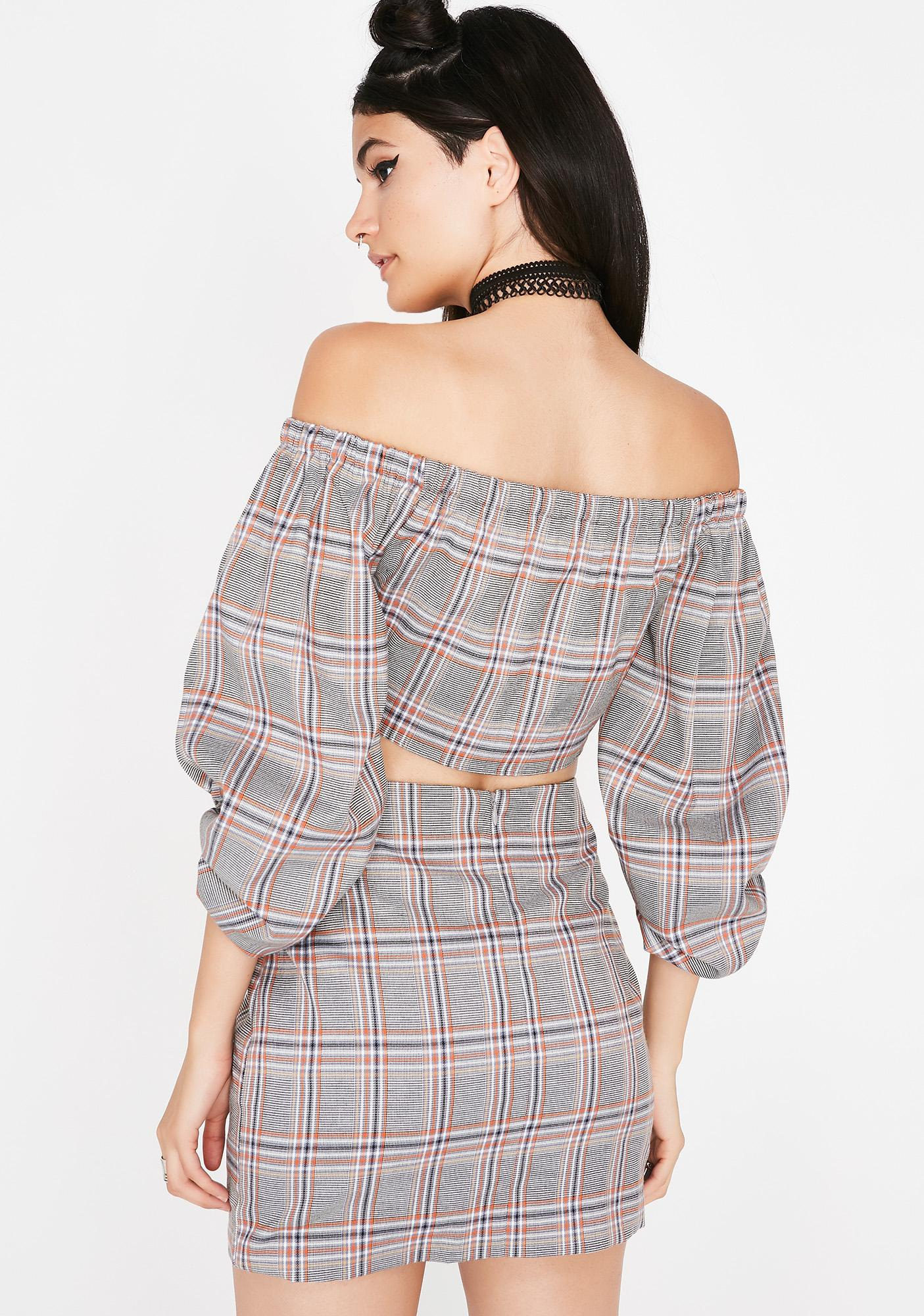 Ask About Me Plaid Set