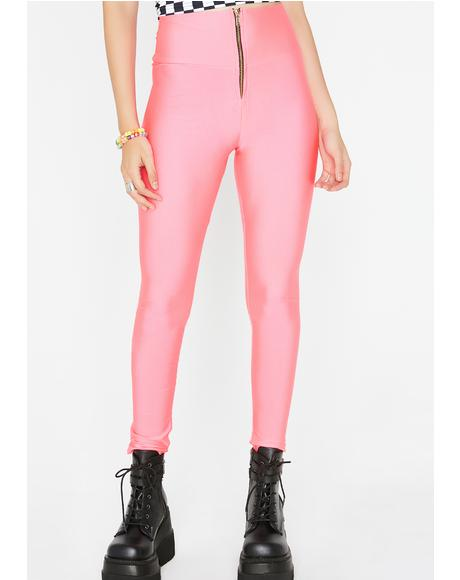 Coral Pulled Together Leggings