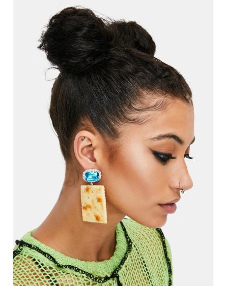 Saltine Cracker Earrings