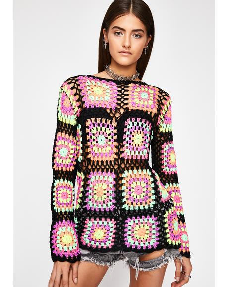 Dazed Dreamer Crochet Sweater