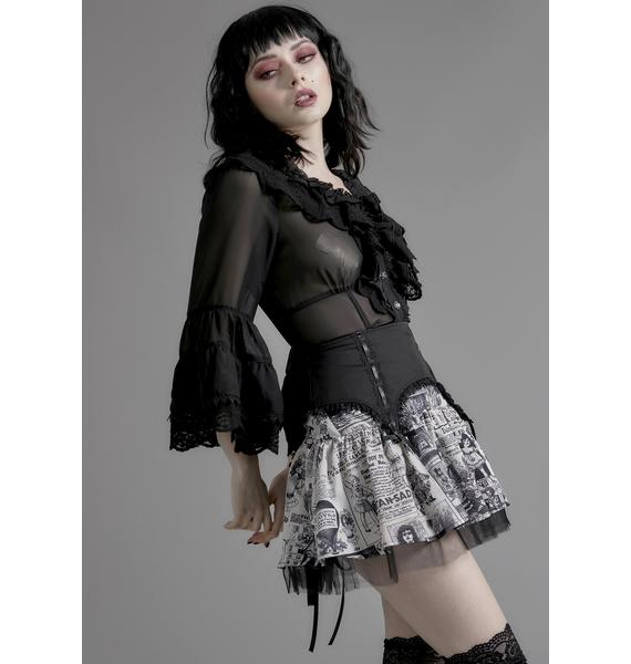 Widow Unfortunate Events Tulle Skirt
