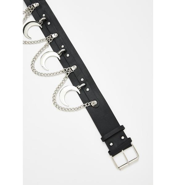 Killstar Moon Rawk Chain Belt