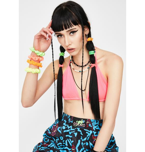 Pop Shock Neon Scrunchies