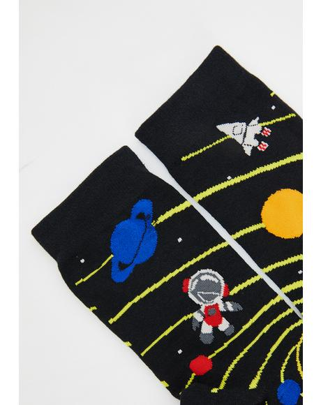 Lost In The Galaxy Socks