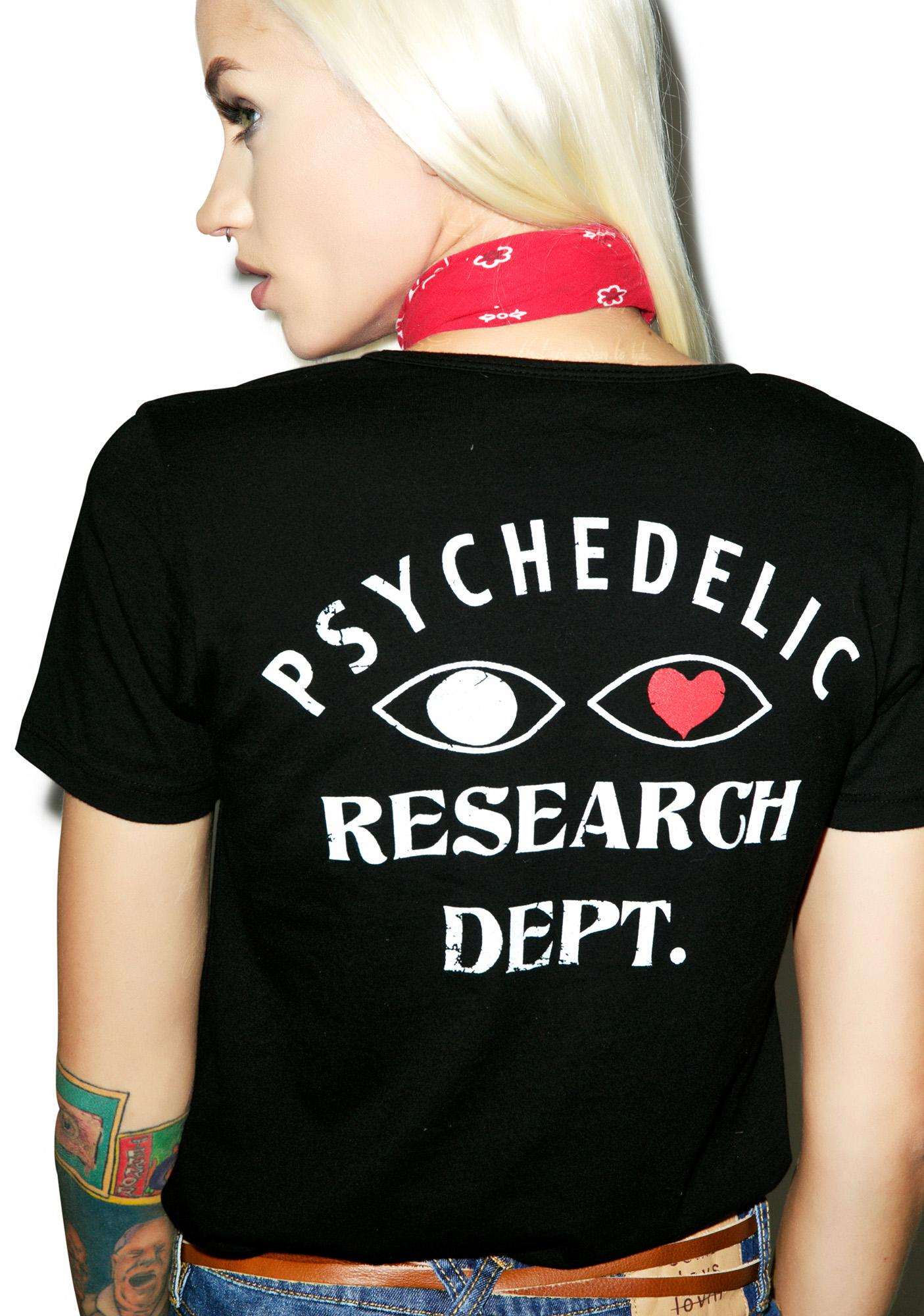 Sugarhigh + Lovestoned Psych Research Department Tee