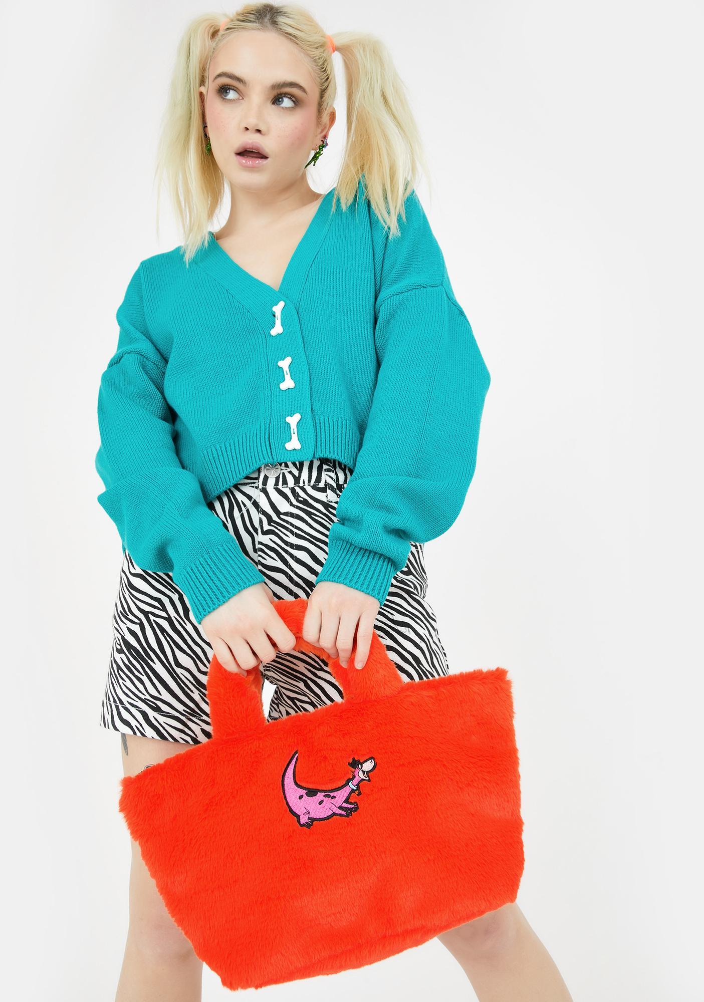 Lazy Oaf X Flintstones Furry Handbag
