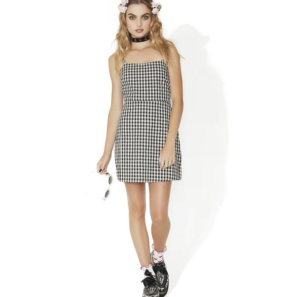 Totally Buggin' Checkered Mini Dress