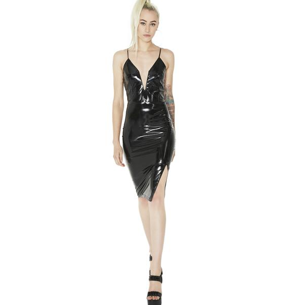 Widowmaker Vinyl Bodycon Dress