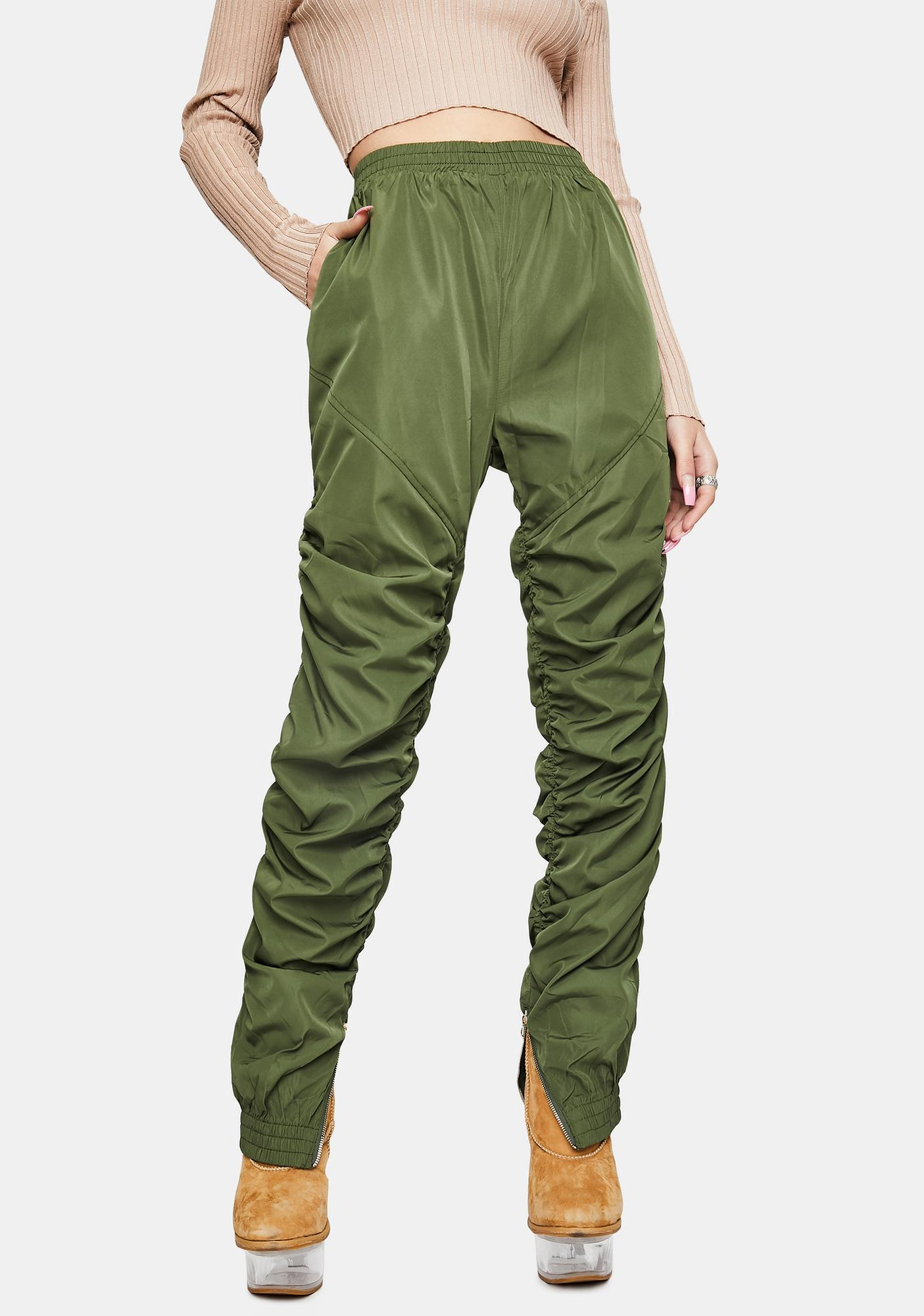 Olive Your Scene Ruched Joggers