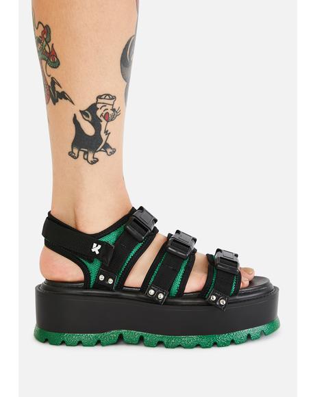Asteroid Matrix Platform Sandals