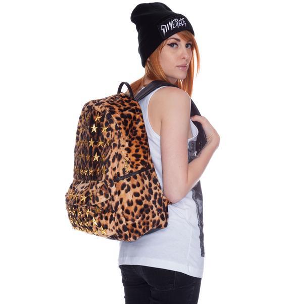 Joyrich Star Burst Leopard Backpack