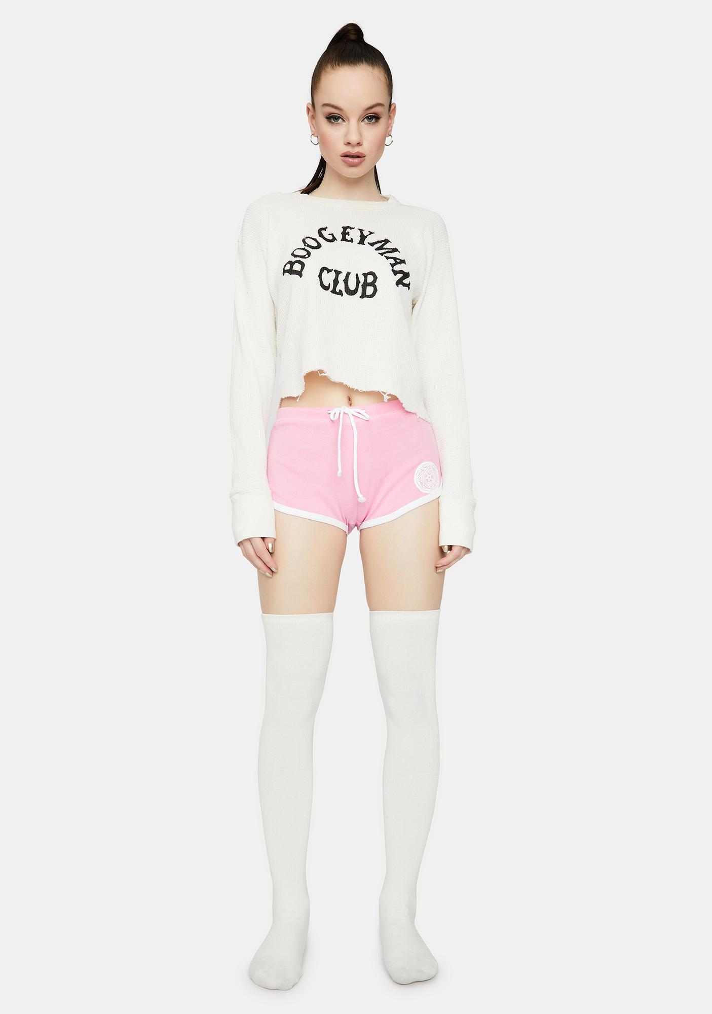 Too Fast Pink Satan's Girl Booty Shorts